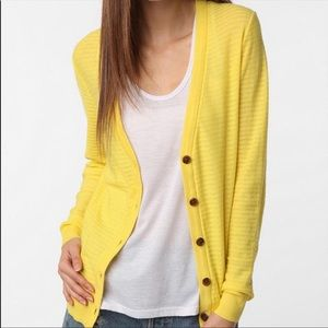 UO BDG Yellow Button Down Cardigan Sweater Top